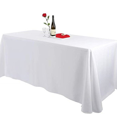 8ft Rectangular Table w/ Tablecloth