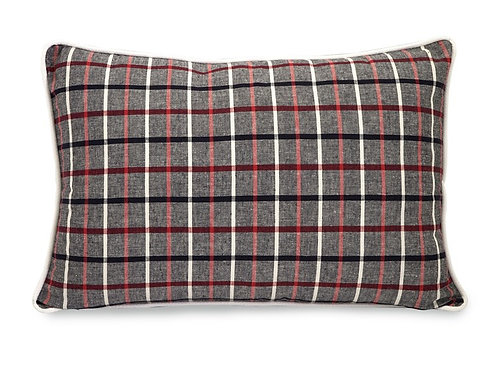 Wilkens Plaid Red And Grey Pillow