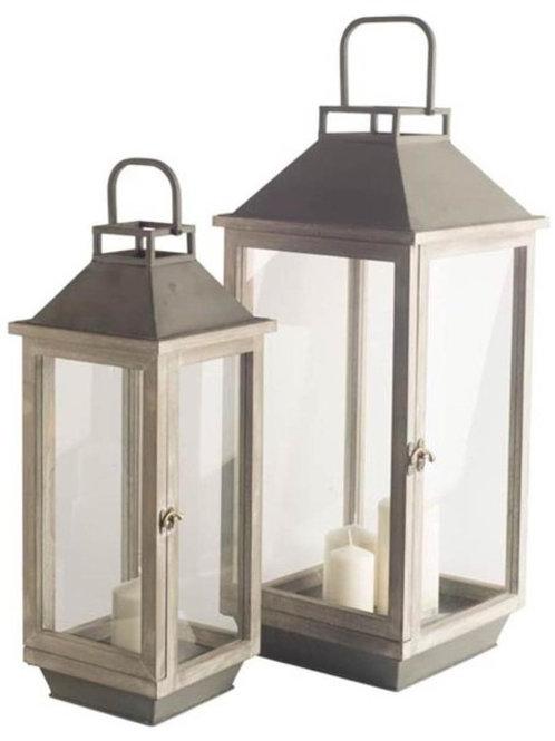 Key Grey Lanterns, Set of 2