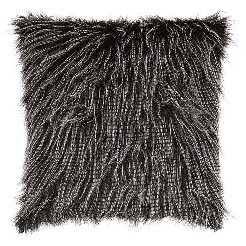 Black Eyelash Fur Pillow