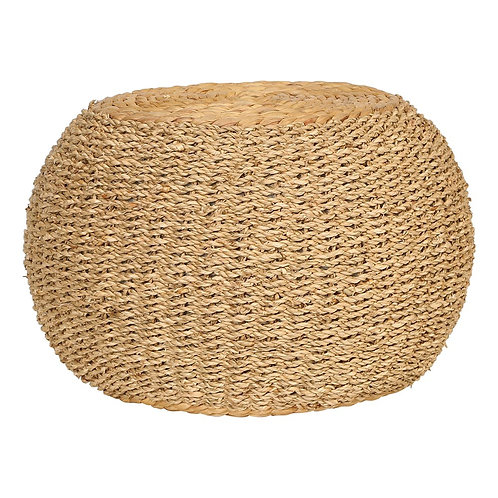 Hand-Woven Seagrass & Water Hyacinth Pouf