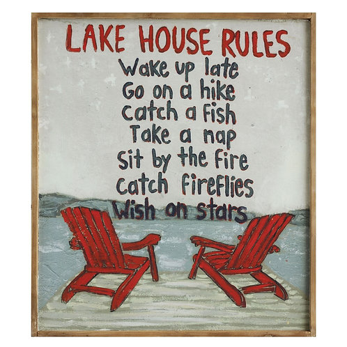 Lake House Rules.. Wall Art