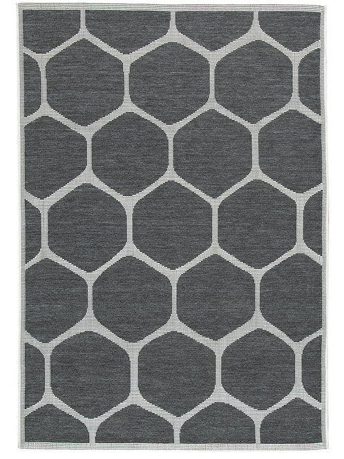 Grey Spotted Outdoor Rug