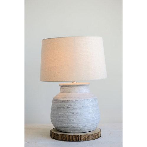 Textured Grey Lamp