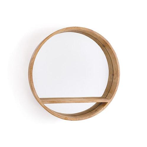 Wood Wall Shelf Mirror