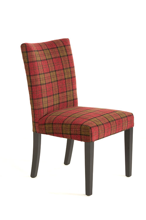 Red Tartan Plaid Dining Chair