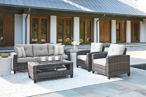 Outdoor Clover 4 Piece Chat Set