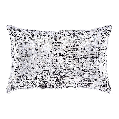 Black & Silver Metallic Pillow