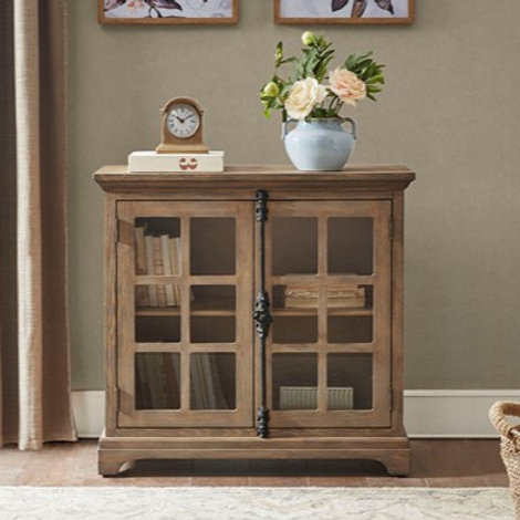 French Reclaimed Oak Finished Accent Cabinet