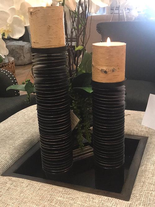 Black Metal Candle Holders Set Of 2