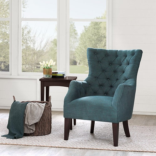 Button Tufted Wing Chair
