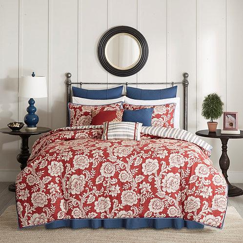 9 PC Lucy Comforter Set, Queen