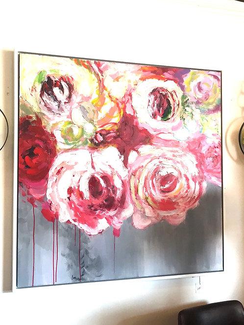 Pink Peonies Canvas Wall Art