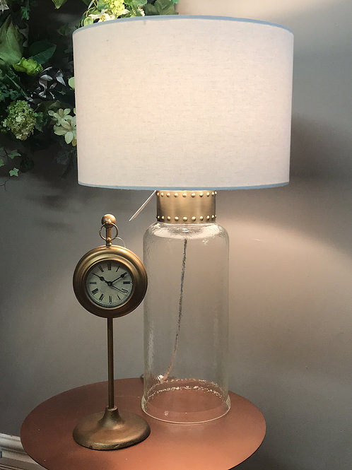 Dimpled Glass Brass Lamp