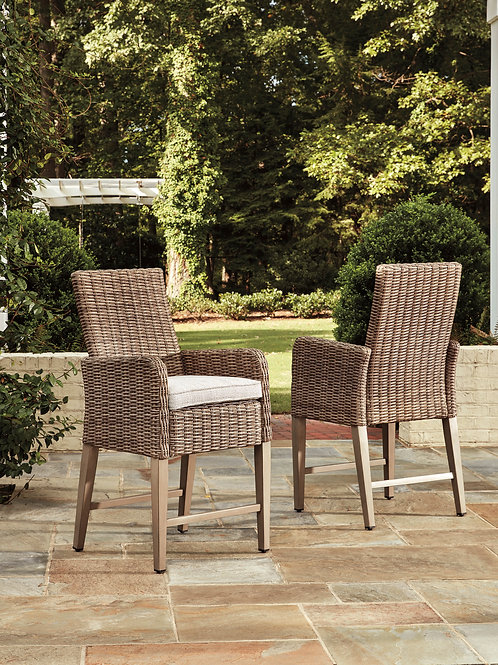 Beach Outdoor Barstool, Set of 2