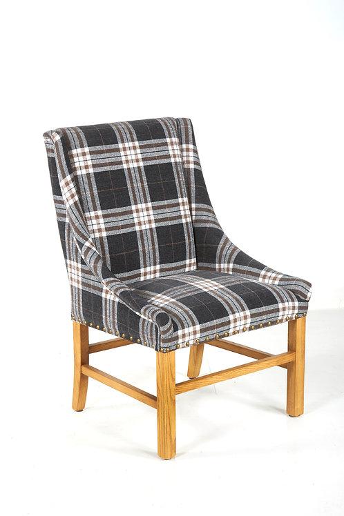 Tartan Charcoal Dining Chair
