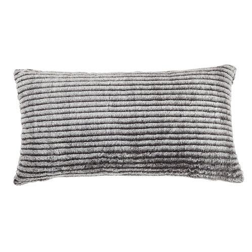 Fur Lumbar Black\White Pillow