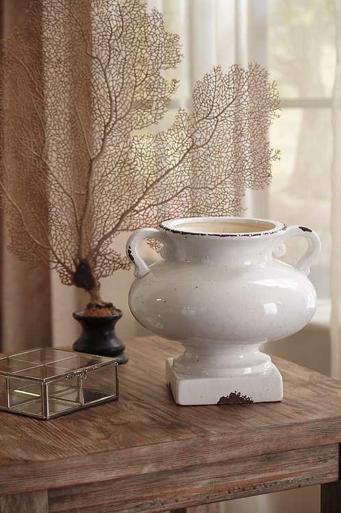 Antique White Urn Vase
