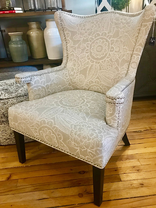 Patterned Ivory Chair