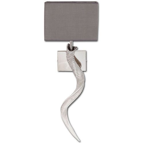 Ibex Horn Wall Sconce