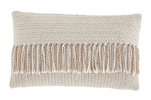 Knit Tassel Accent Pillow