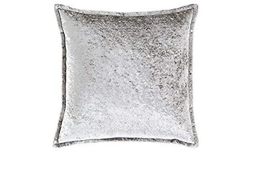 Silver Crushed Velvet Pillow