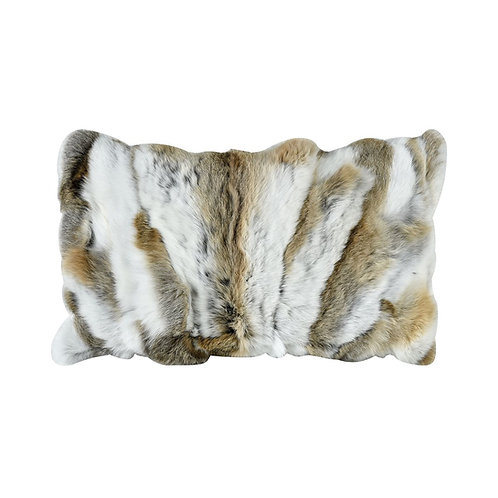 Genuine Rabbit Fur Lumbar Pillow