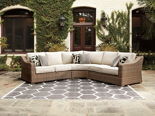 Beach Outdoor 3 Piece Sectional