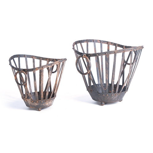 Metal Market Baskets, 2 sizes available