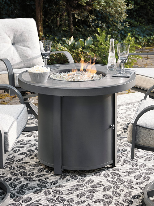 Outdoor Donna Round Fire Pit Table