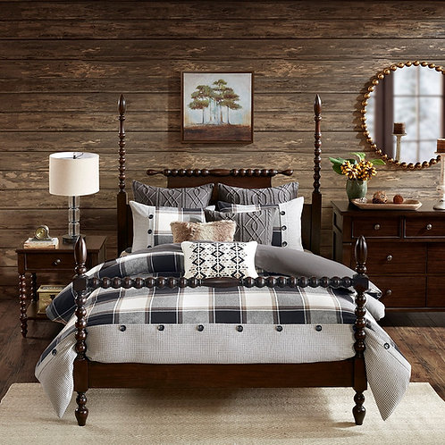 Cabin Plaid Bedding Set