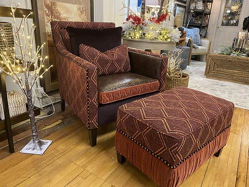 Purple Chair & Ottoman