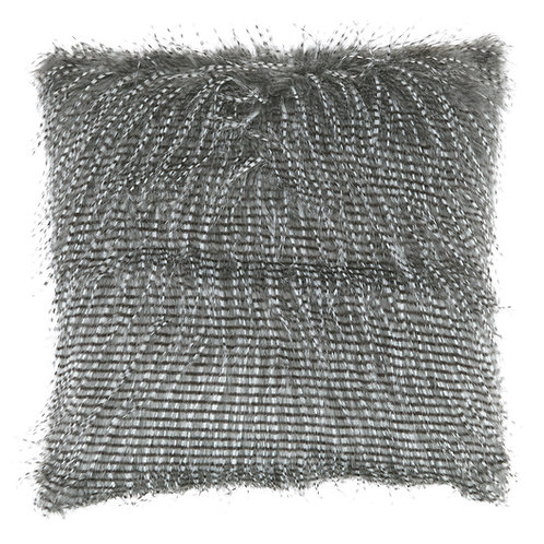 Grey Eyelash Fur Pillow