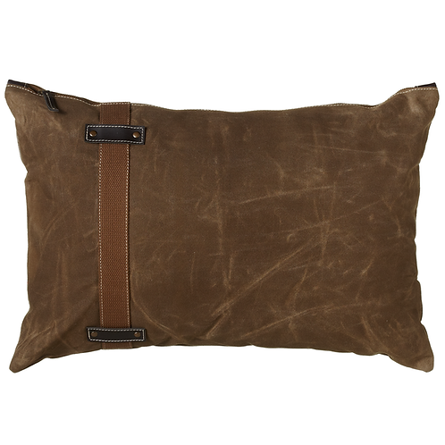 Antique Canvas Lumbar Pillow