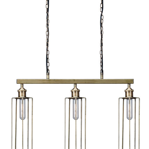 Brass Triple Metal Pendant Light