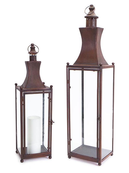 Iron & Glass Lantern, 2 Sizes Available