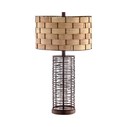 Woven Birch Shade Lamp