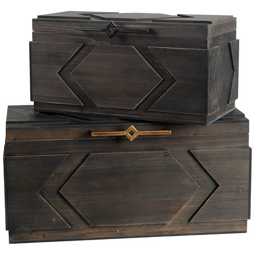 Cassia Boxes, Set of 2