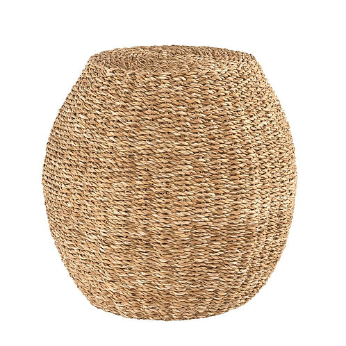 Hand-Woven Seagrass Stool
