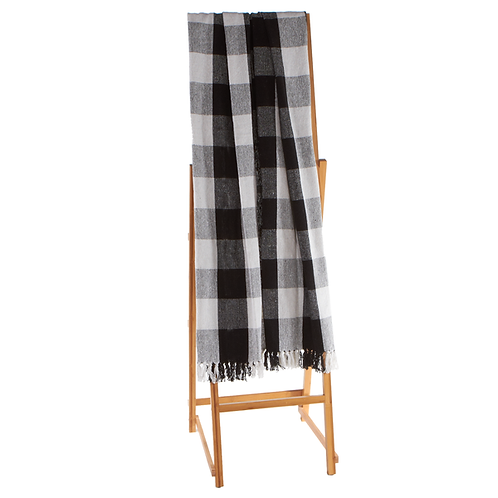 Black And White Plaid Throw