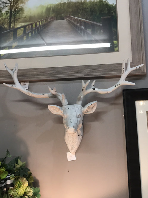 Distressed Deer Wall Decor