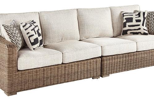 Beach Outdoor 2 Piece Long Sofa