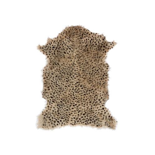 Leopard Print Goat Fur Rug,