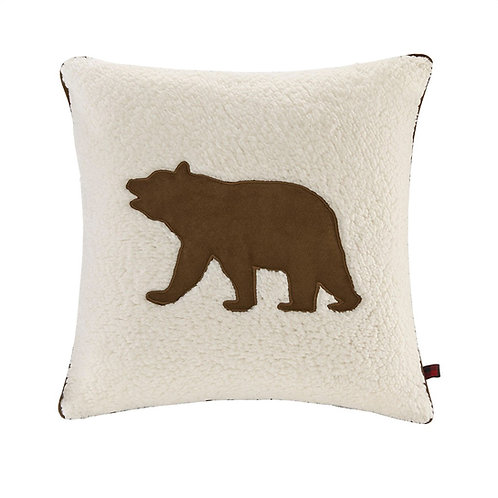 Bear Square Berber Pillow