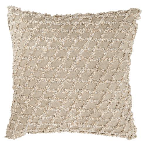 Beige Diamond Pillow
