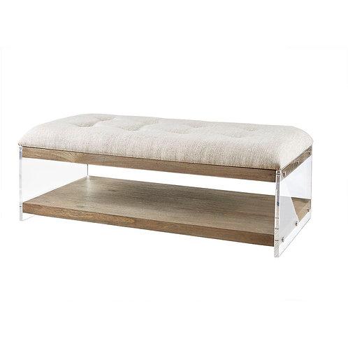 Acrylic Coffee Table Bench Ottoman