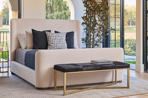 Ivory Cloud Soft Upholstered Bed