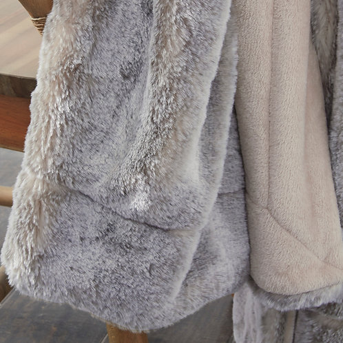 Faux Fur Tan Throw
