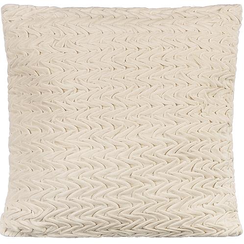 Ivory Wave Velvet Pillow