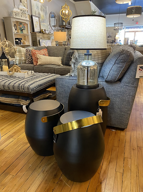 Black & Gold Accent Tables